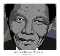 Illustration: Nelson Mandela (R.I.P) on Behance