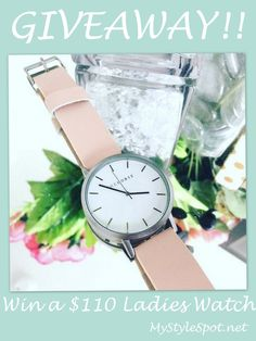 #GIVEAWAY: #Win a Gorgeous Rose Gold + Leather Ladies Watch - a $110 Value! #MyStyleSpot #watchly + Get 10% off with coupon code! #ladieswatch #watch #watchgiveaway #leather #rosegold #fashion #thehorse #fashionwatch #style #sweeps #contest #watchgiveaway #rosegoldwatch #shop #shoppingdeals #deal #save #couponcode #jewelry #accessories #fashionaccessories!