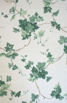 Discontinued Wallpaper: Waverly English Ivy Pattern #554092 | ThriftyFun