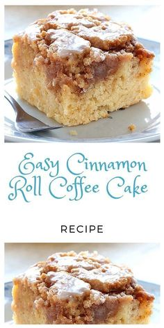 Easy Cinnamon Roll Coffee Cake Recipe Preheat oven to 350 degrees F. In a large bowl, mix all the cake ingredients together until well combined. Pour into a greased pan. For the topping, mix all the ingredients together in a small b Smores Dessert, Bon Dessert, Dessert Dips, Dessert Party, Cake Mix Desserts, Appetizer Dessert, Dessert Blog, Dessert Simple, Dessert Bread