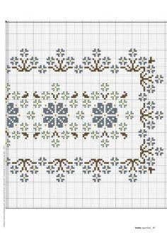 Cross Stitch Borders, Cross Stitch Flowers, Cross Stitch Charts, Cross Stitch Designs, Cross Stitching, Cross Stitch Patterns, Hand Embroidery Patterns Flowers, Ribbon Embroidery, Cross Stitch Embroidery