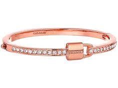 COACH Padlock and Pave Hinge Bangle