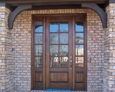Craftsman Exterior TDL Mahogany Wood Front Entry Door Style DbyD-4035