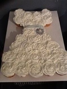 Bridal Shower Pull Apart Cupcake Cake. Hope this is okay for this board.