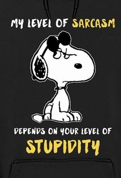 My level of sarcasm. – Better Resume Service My level of sarcasm. My level of sarcasm. Snoopy Love, Charlie Brown And Snoopy, Snoopy And Woodstock, Happy Snoopy, Snoopy Images, Snoopy Pictures, Funny Pictures, Peanuts Quotes, Snoopy Quotes