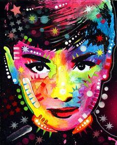 Audrey Hepburn by drussoart, via Flickr