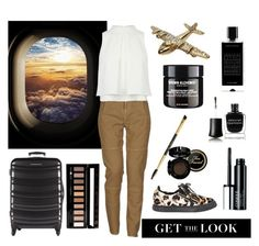 """Fly The Friendly Skies"" by chantelleporter on Polyvore featuring Massimo Alba, Giuseppe Zanotti, Clinique, Agonist, Forever 21, Deborah Lippmann and aeostyle"
