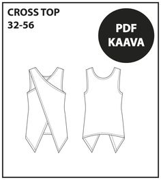 Ristitoppi kuva PDF Cross Top, Free Pattern, Pdf, Sewing, School, Tops, Classroom, Patterns, Crafts