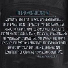 The BPD Monster and Me #BPD #Borderline Personality Disorder