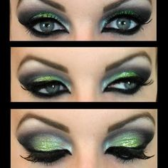 Be exotic with this glittery lime green Arabic look. Cut your crease and wing it out to bring extra drama to your eyes. Click here for the product list.