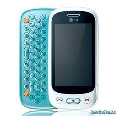 LG GT350 Etna Plus Unlocked Quadband GSM Cell Phone – Touch Screen – QWERTY Slider – International Version (White/Aqua Blue) | ($195.00)