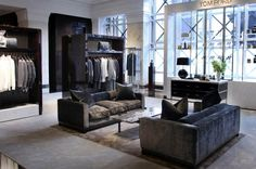 I could move right in - perfect closet and lush sofas!  tom ford london store