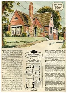 The Stratford 1929 BRICK VENEER HONOR BILT HOMES