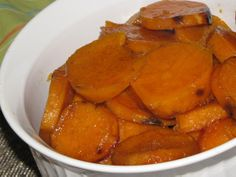 Pinch of Lime: Crock Pot Semi-Candied Sweet Potatoes. Free up your oven during the holidays by reinventing the traditional dish in your crock pot. This one has a lot less butter and sugar but still has all the flavor. Melt 3 TB butter and mix in 1 tsp lemon juice, 1/8 tsp salt, 1/8 tsp cinnamon and 1/4 c brown sugar. Toss everything with 2 large, sliced sweet potatoes and cook on high for 2-3 hours. Simple and delicious!