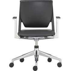 Haworth® Very™ Black Office Chair in Office Chairs | Crate and Barrel | $799 |  Haworth's spec sheet on it says it can contribute to LEED certifications.