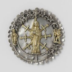 Two badges, anonymous, c. 1450 - c. 1499 - Rijksmuseum