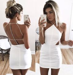 Jul 2019 - Custom Made White Mini Sheath Dress, Homecoming Dress, Formal Dresses, Wedding Dresses on Luulla Backless Homecoming Dresses, Mini Prom Dresses, Hoco Dresses, Prom Dresses For Sale, Event Dresses, Sexy Dresses, Formal Dresses, Wedding Dresses, Dress Prom