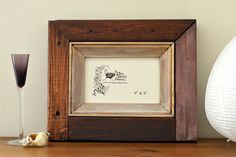 Reclaimed wood photo frame: 'Clove'; 4x6 by FreeRangeFrames