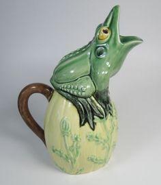 Vintage Bordallo Pinheiro Frog Pitcher   eBay