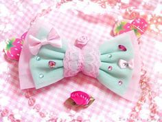 kawaii pastel fairy kei hair bow
