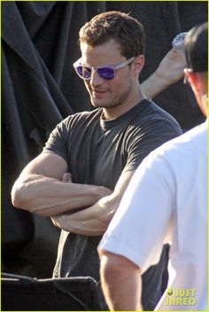 Jamie Dornan Films 'Fifty Shades' Helicopter Crash Scene: Photo #3647055. Jamie Dornan gives a smoldering stare while waiting to film a helicopter crash scene on the set of the Fifty Shades films on Monday (May 2) in Vancouver, Canada.…