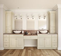 French Vanilla Glaze Bathroom Vanity