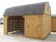 goat shed idea, can open to pasture, but safe at night. with locked room for feed/supplies