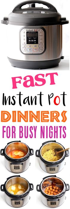 Instant Pot Recipes Easy Family Dinners for Busy Nights! Need dinner done in a j. Instant Pot Recipes Easy Family Dinners for Busy Nights! Need dinner done in a jiffy? You& love this HUGE list of easy pressure cooker recipes f. Instant Recipes, Instant Pot Dinner Recipes, Easy Dinner Recipes, Easy Instapot Recipes, Easy Family Recipes, Healthy Instapot Recipes, Keto Recipes, Recipe For Instant Pot, Fast And Easy Recipes