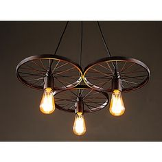 Shop for Serapiko 3-light Antique Bronze 20-inch Edison Chandelier with Light Bulb. Get free shipping at Overstock.com - Your Online Home Decor Outlet Store! Get 5% in rewards with Club O!