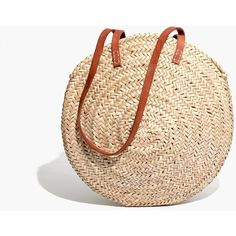 MADEWELL Indigo&Lavender™ Large Lucena Shopper Basket (€54) ❤ liked on Polyvore featuring bags, handbags, shoulder bags, natural, beige leather handbags, madewell purses, leather shoulder bag, leather shopping bag and beige leather purse