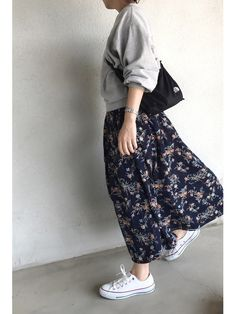 """Made with """"Sacoche & Waist pouch"""" ♪ A collection of casual casual outfits that can move easily Modest Fashion, Hijab Fashion, Fashion Outfits, Womens Fashion, Long Skirt Fashion, Casual Hijab Outfit, Casual Outfits, Cute Outfits, Hijab Chic"""