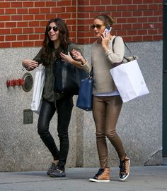 THE OLIVIA PALERMO LOOKBOOK: Olivia Palermo out shopping with a friend In New York