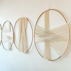 Mar 2020 - Online Shop Nordic Ins Wall Hanging Decoration Round Circle Cotto Rope Woven Macrame Wall Hanging Tapestry Headboard Home Decor Macrame Wall Hanging Patterns, Tapestry Wall Hanging, Diy Wall Art, Diy Wall Decor, Feather Wall Decor, Room Decor, Tapestry Headboard, Creative Walls, Tapestry Weaving