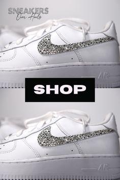 Crystal Rhinestone, Swarovski Crystals, Air Force 1 Outfit, Custom Air Force 1, 1 Girl, Women Nike, Girls Shoes, Nike Air Force, Street Style