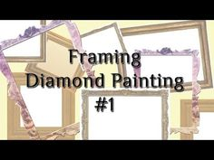 Just wanted to demonstrate another framing method. Works well for odd sized diamond paintings. Painting Tips, Painting Frames, Painting Tutorials, How To Make Frames, Carved Eggs, Beatles Art, Crafts To Make And Sell, 5d Diamond Painting, Diamond Art