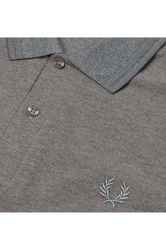 finest selection 9ca32 62144 Fred Perry - M12 Grey Marl   Grey   Grey Fred Perry Shirt, Men s Collection