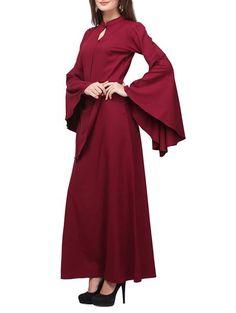 LadyIndia.com # Club Wear, Brown Color Crepe Maxi Dress Bat Sleeves Flared Latest Designer Western Wear Maxi Dress Gown, Dress, Party Wear Dress, Long Dresses, Western Wear, Club Wear, Maxi Dress, https://ladyindia.com/collections/western-wear/products/brown-color-crepe-maxi-dress-bat-sleeves-flared-latest-designer-western-wear-maxi-dress-gown?variant=31545531981