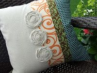 Just Another Hang Up: Damask, Swirls & Polka-dots Pillow ... Version 2
