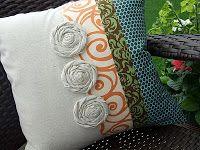 Just Another Hang Up: Damask, Swirls & Polka-dots Pillow ... Version 2