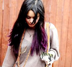 Vanessa Hudgens's Purple-Tipped Locks