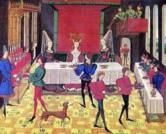Diner de noce au XVe siècle. France.
