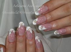 The art of nails albany albanybranch on pinterest elegant floral nail art in white with some golden glitter french style prinsesfo Images