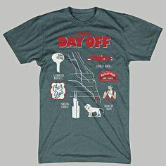Ferris Bueller's Day Off Chicago Map T-Shirt