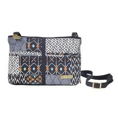 Allie Essentials - The Essentials functions as a crossbody and a wallet. Pulling from tribal trends, the Allie Patchwork program features patches of Slate Navy, Desert Clay, Clear Blue and Whisper White. The multiple compartments are perfect for any sized cellphone and other on-the-go-essentials. Internal pockets inside 1 slip and 1 zip and 1 zip wallet compartment. It has an adjustable strap with a maximum length of 61x.8
