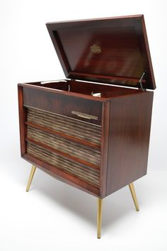 Sylvania Vintage Stereo Console Cabinet Record Player | Collages |  Pinterest | Consoles, Mid Century And Mid Century Modern