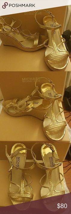 Michael Kors Cicely Wedge Brand new in box Michael Kors Cicely Wedge size 7.5. These were a gift for my birthday last year but sadly did not fit! They've been sitting in my closet for close to a year! MICHAEL Michael Kors Shoes Wedges