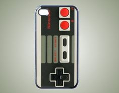 iPhone 4 Case - Retro NES Game Controller Style iPhone 4 Hard Case    **Soo want this!!**