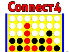 Connect Four PowerPoint Game Template - skills review idea