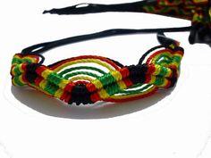 2 Pcs Rasta Friendship Bracelets New Band Tie-on Reggae Carnival Red Green…