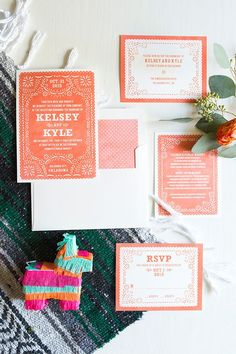 colorful wedding invitations - photo by Ely Fair Photography http://ruffledblog.com/colorful-fiesta-wedding